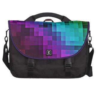 Bold modern abstract pixel tile laptop bag