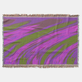 Bold Modern Abstract Purple and Olive Green