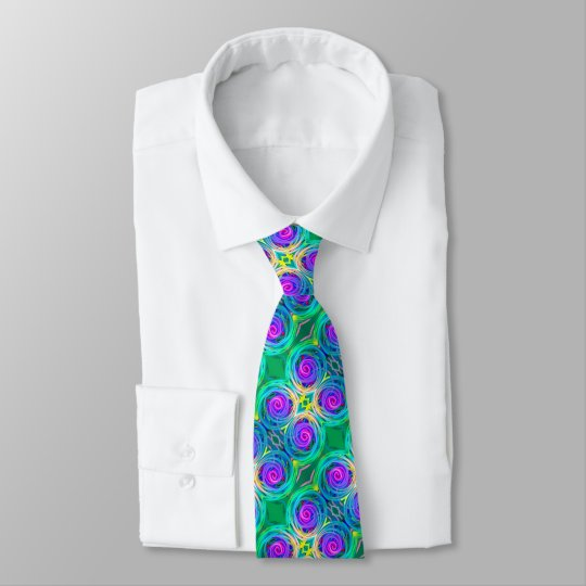Bold modern colourful abstract design tie