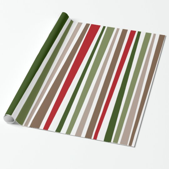 Bold Modern Colourful Uneven Stripes Holiday Style Wrapping