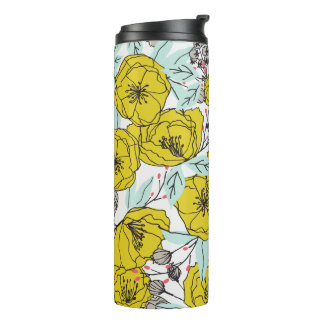 Bold Modern Floral Thermal Tumbler