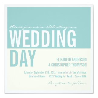 Bold Modern Graphic Block Wedding Invitations