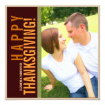 Bold Modern Graphic Thanksgiving Photo Card Invites