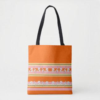 Bold Modern Orange & Pink Tote Bag