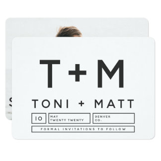 BOLD MODERN SAVE THE DATE CARD