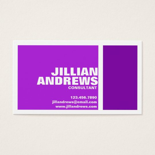 Bold Modern Split Box - Purple Business Card