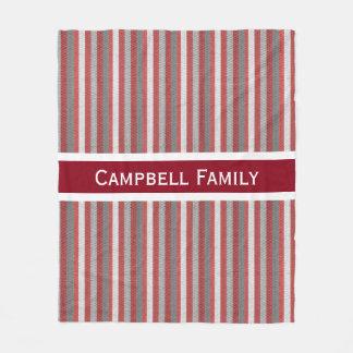 Bold & Modern Stripes Family Fleece Blanket