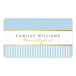 BOLD modern stylish comb design gold duck egg blue Pack Of Standard Business Cards