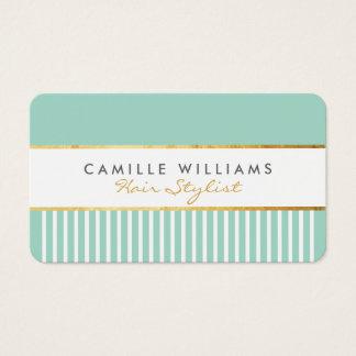 BOLD modern stylish comb design gold mint green
