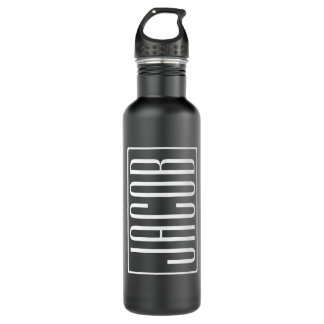 Bold & Modern Your Name or Word | White On Black 710 Ml Water Bottle