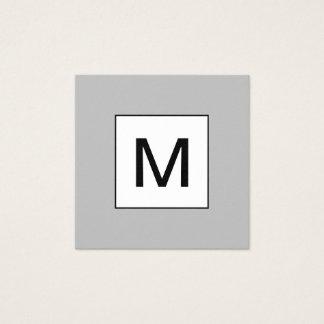 Bold monogram minimalist modern grey business card