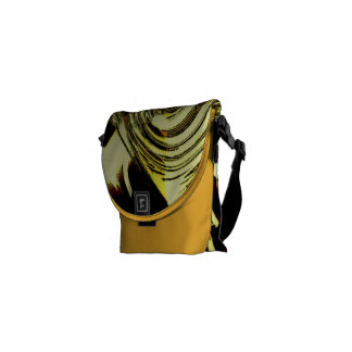 Bold Move - Yellow and Black Abstract Courier Bag