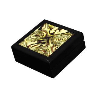 Bold Move - Yellow and Black Abstract Small Square Gift Box
