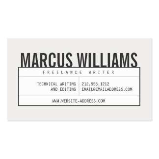 Bold Name II with Vintage Grid on Lt Gray Pack Of Standard Business Cards