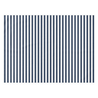Bold Navy Blue and White Stripe Tablecloth