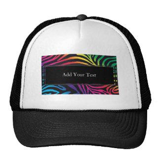 Bold Neon Zebra Stripes Cap