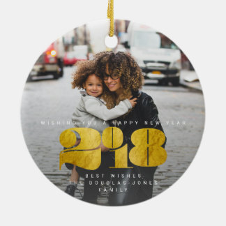 BOLD NEW YEAR(GOLD) CHRISTMAS ORNAMENT