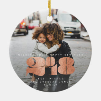 BOLD NEW YEAR(ROSE GOLD) CHRISTMAS ORNAMENT