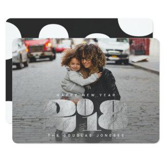 BOLD NEW YEAR(SILVER} CARD