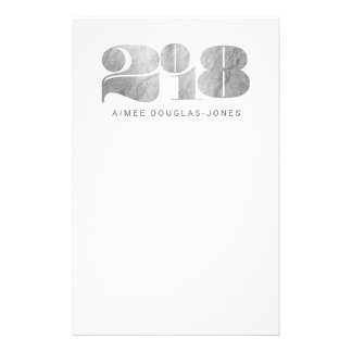 BOLD NEW YEAR(SILVER) STATIONERY