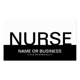 bold NURSE Business Cards
