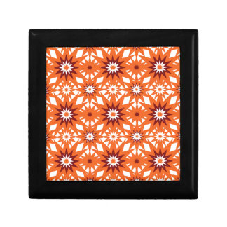 Bold Orange and Red Stars Starburst Pattern Keepsake Boxes