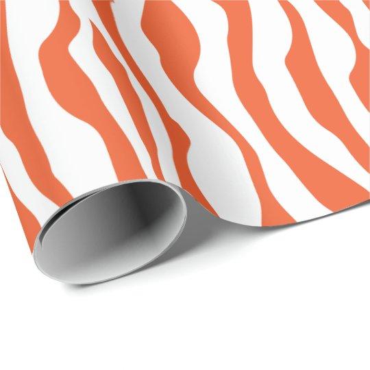 Bold Orange and White Zebra Stripes Animal Print