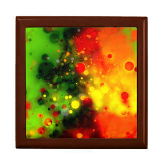 Bold Orange, Green & Yellow Sparkle Design Keepsake Boxes