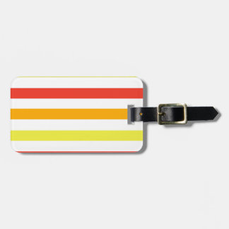 Bold Orange Yellow and Red Stripes Luggage Tag