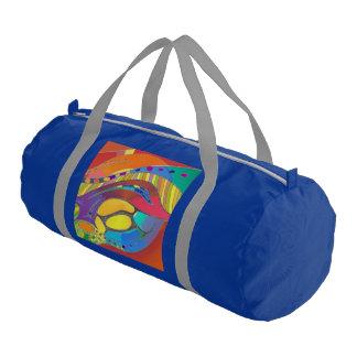Bold Organic Blue Gym Bag Life Scan Gym Duffel Bag