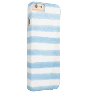 Bold Painted Blue Stripes Barely There iPhone 6 Plus Case