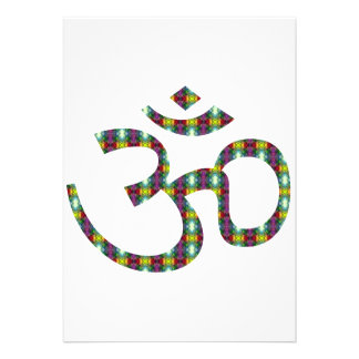 Bold Patterened Om or Aum ॐ.png Invitations