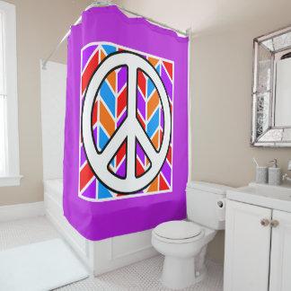 Bold Peace & Love Shower Curtain