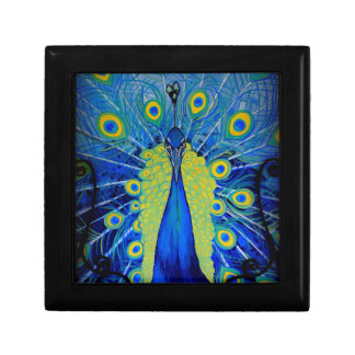 Bold Peacock Trinket Box