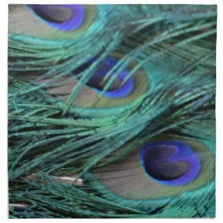 bold peafowl eyes napkin