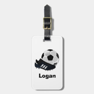 Bold Personalized Soccer Luggage Tag