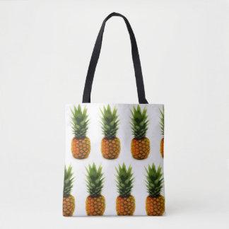 BOLD Pineapple All-Over Print Tote Bag