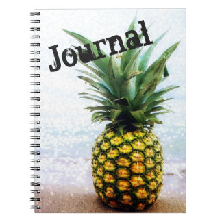 BOLD Pineapple Journal for artists, writers, poets Spiral Note Book
