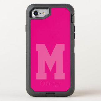 Bold Pink Varsity Monogram OtterBox Defender iPhone 8/7 Case