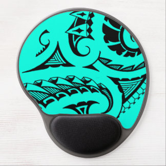 Bold Polynesian maori style tribal design Gel Mouse Pad