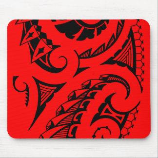 Bold Polynesian maori style tribal design Mouse Pad