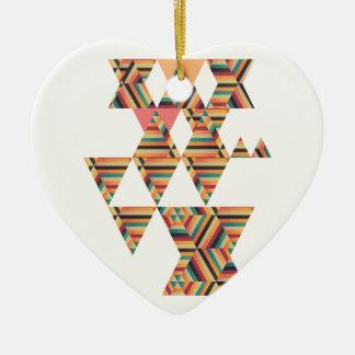 Bold Prints Ceramic Heart Decoration