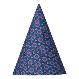 Bold Purple and Blue Party Hat
