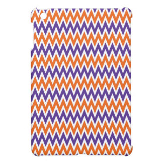 Bold Purple and Orange Chevron Zigzag Pattern iPad Mini Covers