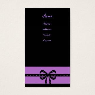 bold purple business card
