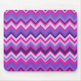 Bold Purple Pink Tribal Chevron Purple Girly Gifts Mouse Mat