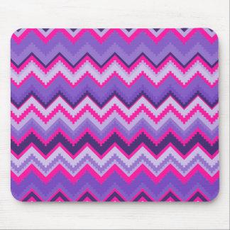 Bold Purple Pink Tribal Chevron Purple Girly Gifts Mouse Mat
