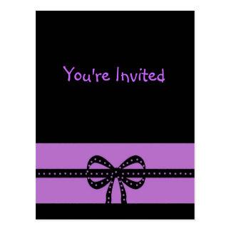 bold purple postcard