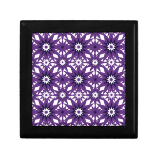 Bold Purple Star Pattern Starburst Design Keepsake Boxes