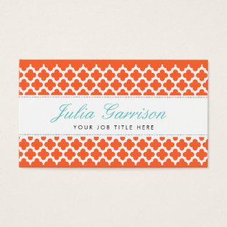 Bold Quatrefoil Business Cards